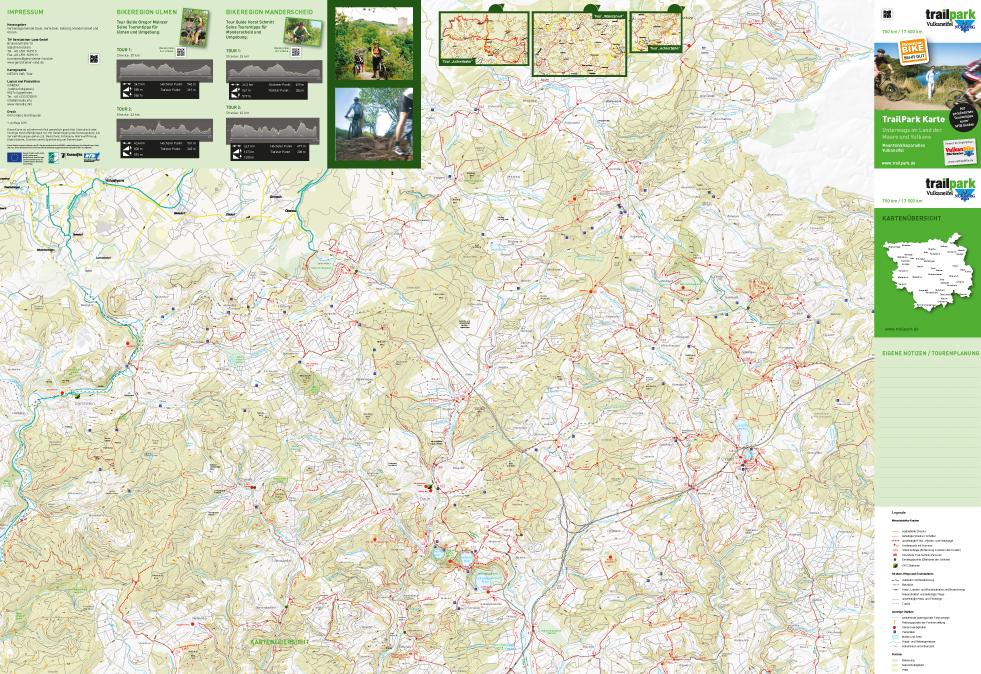 Eifel Karte Pdf.Trailpark Karte Unterwegs Im Land Der Maare Und Vulkane
