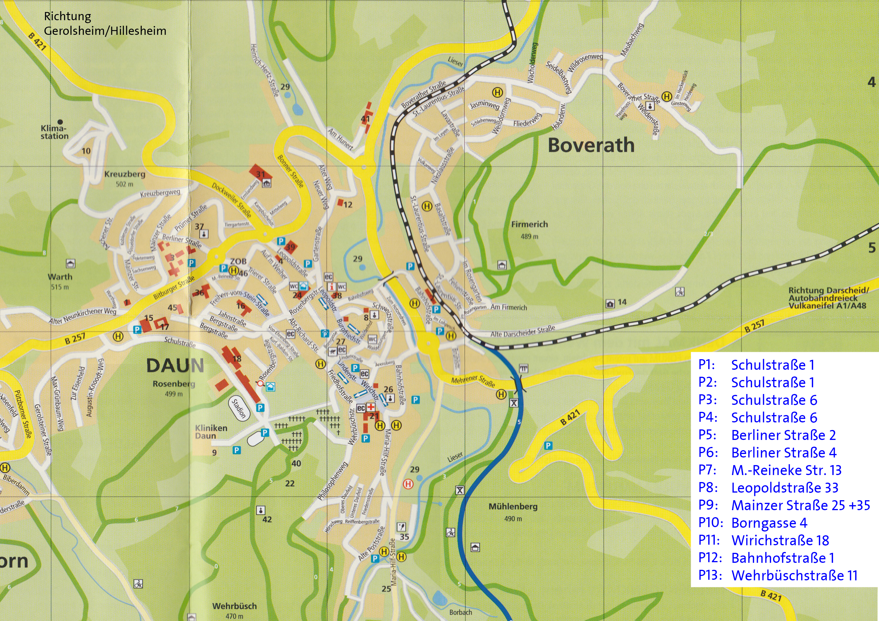 Parkplatze Parkplatzplan Vulkanbike Eifel Marathon